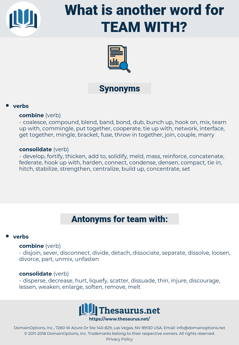 team with, synonym team with, another word for team with, words like team with, thesaurus team with