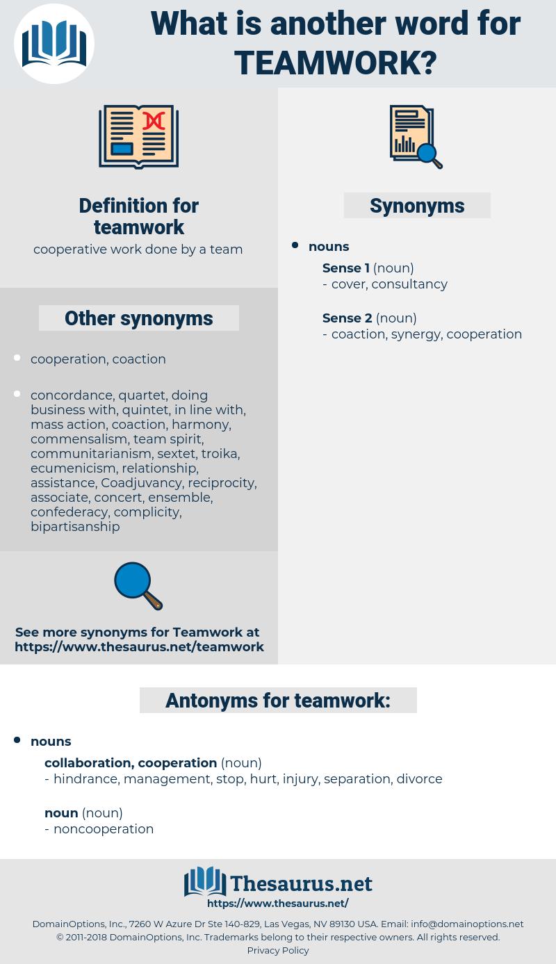 teamwork, synonym teamwork, another word for teamwork, words like teamwork, thesaurus teamwork