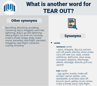 tear out, synonym tear out, another word for tear out, words like tear out, thesaurus tear out