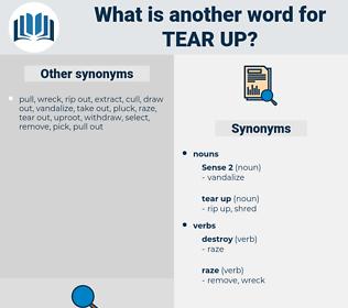 tear up, synonym tear up, another word for tear up, words like tear up, thesaurus tear up