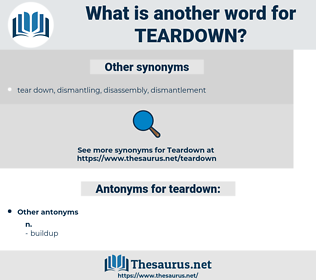 teardown, synonym teardown, another word for teardown, words like teardown, thesaurus teardown