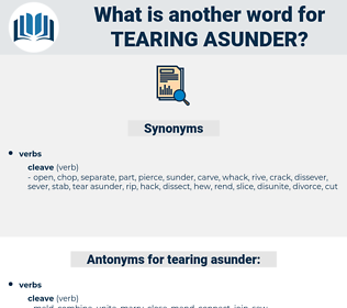 tearing asunder, synonym tearing asunder, another word for tearing asunder, words like tearing asunder, thesaurus tearing asunder