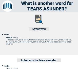 tears asunder, synonym tears asunder, another word for tears asunder, words like tears asunder, thesaurus tears asunder