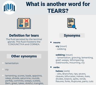 tears, synonym tears, another word for tears, words like tears, thesaurus tears