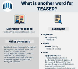 teased, synonym teased, another word for teased, words like teased, thesaurus teased