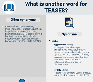 teases, synonym teases, another word for teases, words like teases, thesaurus teases