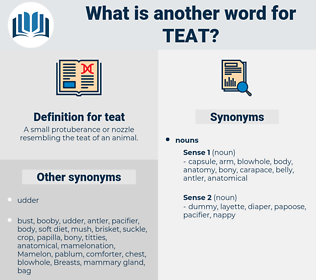 teat, synonym teat, another word for teat, words like teat, thesaurus teat