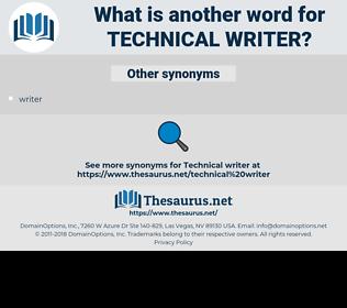 technical writer, synonym technical writer, another word for technical writer, words like technical writer, thesaurus technical writer