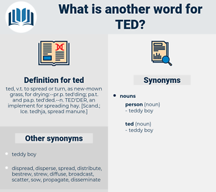 ted, synonym ted, another word for ted, words like ted, thesaurus ted