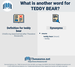 teddy bear, synonym teddy bear, another word for teddy bear, words like teddy bear, thesaurus teddy bear