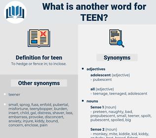 teen, synonym teen, another word for teen, words like teen, thesaurus teen