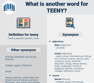 teeny, synonym teeny, another word for teeny, words like teeny, thesaurus teeny