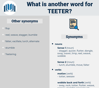 teeter, synonym teeter, another word for teeter, words like teeter, thesaurus teeter
