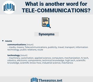 tele-communications, synonym tele-communications, another word for tele-communications, words like tele-communications, thesaurus tele-communications