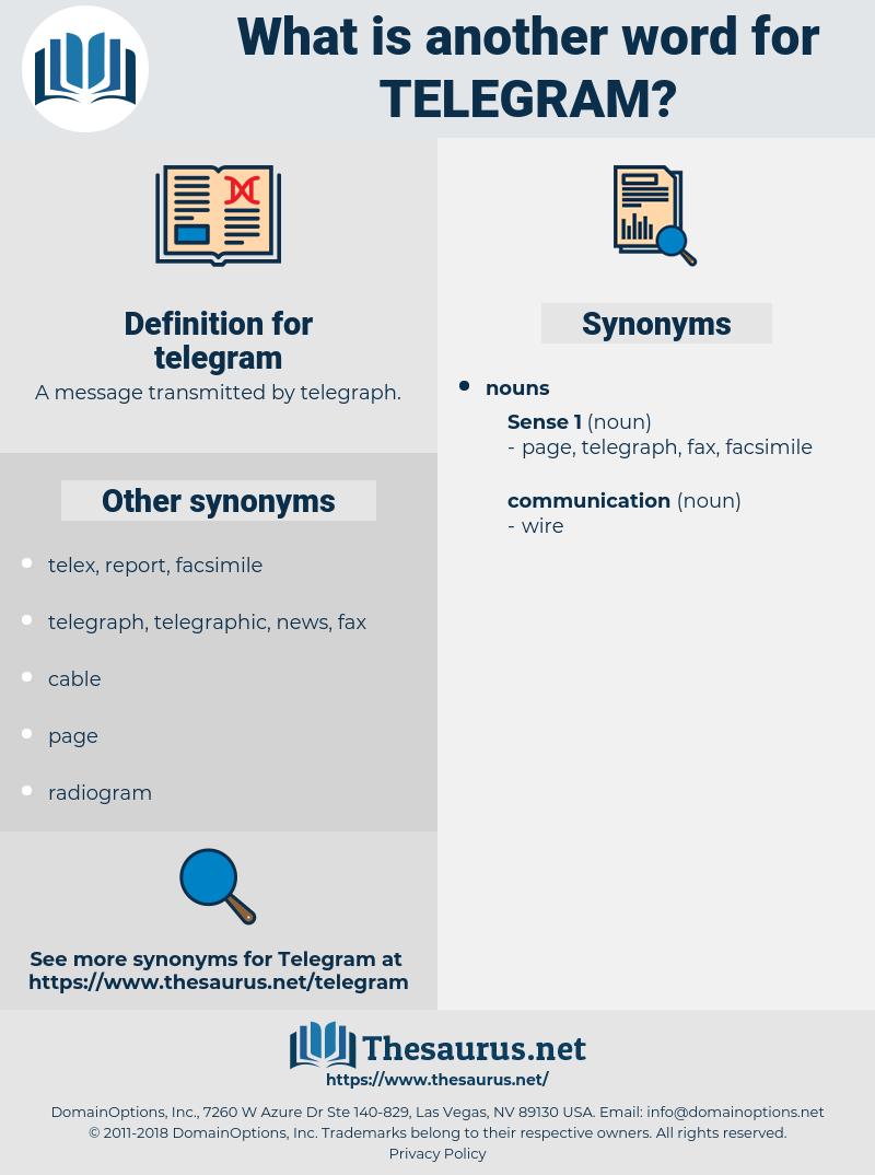 telegram, synonym telegram, another word for telegram, words like telegram, thesaurus telegram