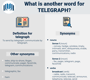 telegraph, synonym telegraph, another word for telegraph, words like telegraph, thesaurus telegraph