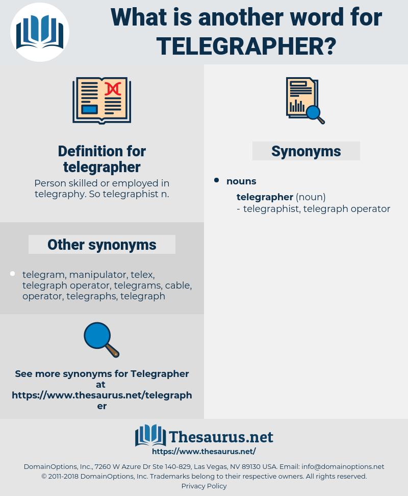 telegrapher, synonym telegrapher, another word for telegrapher, words like telegrapher, thesaurus telegrapher