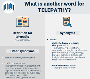 telepathy, synonym telepathy, another word for telepathy, words like telepathy, thesaurus telepathy