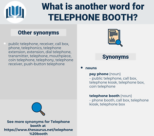 telephone booth, synonym telephone booth, another word for telephone booth, words like telephone booth, thesaurus telephone booth