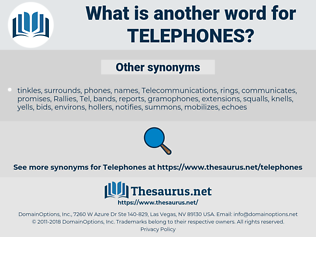 Telephones, synonym Telephones, another word for Telephones, words like Telephones, thesaurus Telephones