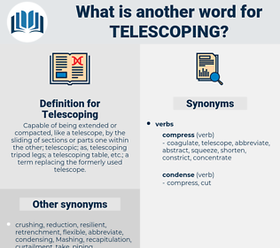 Telescoping, synonym Telescoping, another word for Telescoping, words like Telescoping, thesaurus Telescoping