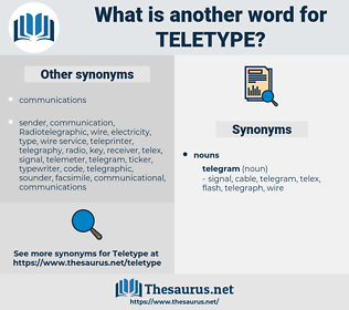 Teletype, synonym Teletype, another word for Teletype, words like Teletype, thesaurus Teletype