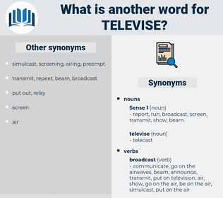 televise, synonym televise, another word for televise, words like televise, thesaurus televise