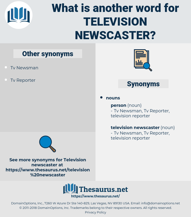 television newscaster, synonym television newscaster, another word for television newscaster, words like television newscaster, thesaurus television newscaster