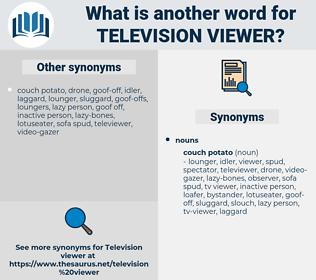 television viewer, synonym television viewer, another word for television viewer, words like television viewer, thesaurus television viewer