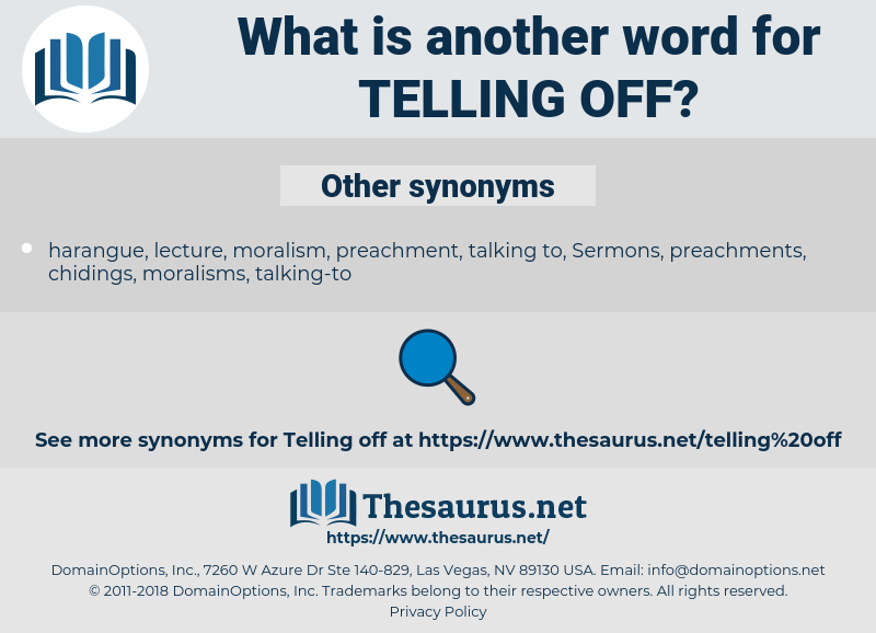 telling-off, synonym telling-off, another word for telling-off, words like telling-off, thesaurus telling-off
