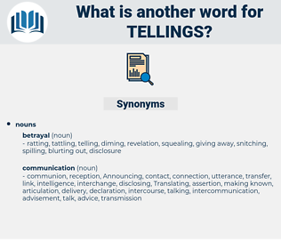 tellings, synonym tellings, another word for tellings, words like tellings, thesaurus tellings