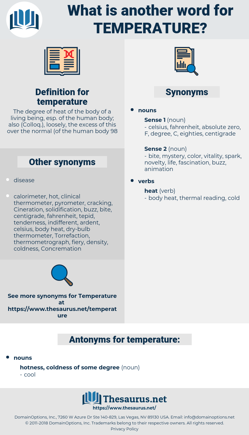 temperature, synonym temperature, another word for temperature, words like temperature, thesaurus temperature