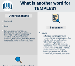 temples, synonym temples, another word for temples, words like temples, thesaurus temples