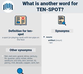 ten-spot, synonym ten-spot, another word for ten-spot, words like ten-spot, thesaurus ten-spot