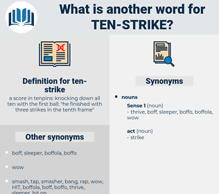 ten-strike, synonym ten-strike, another word for ten-strike, words like ten-strike, thesaurus ten-strike