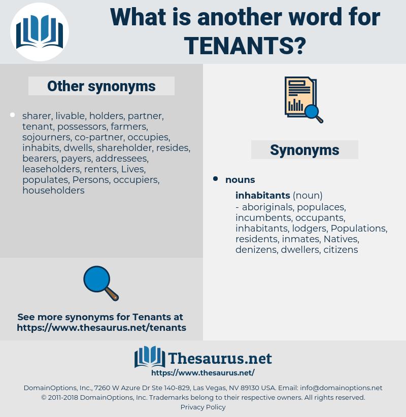 tenants, synonym tenants, another word for tenants, words like tenants, thesaurus tenants