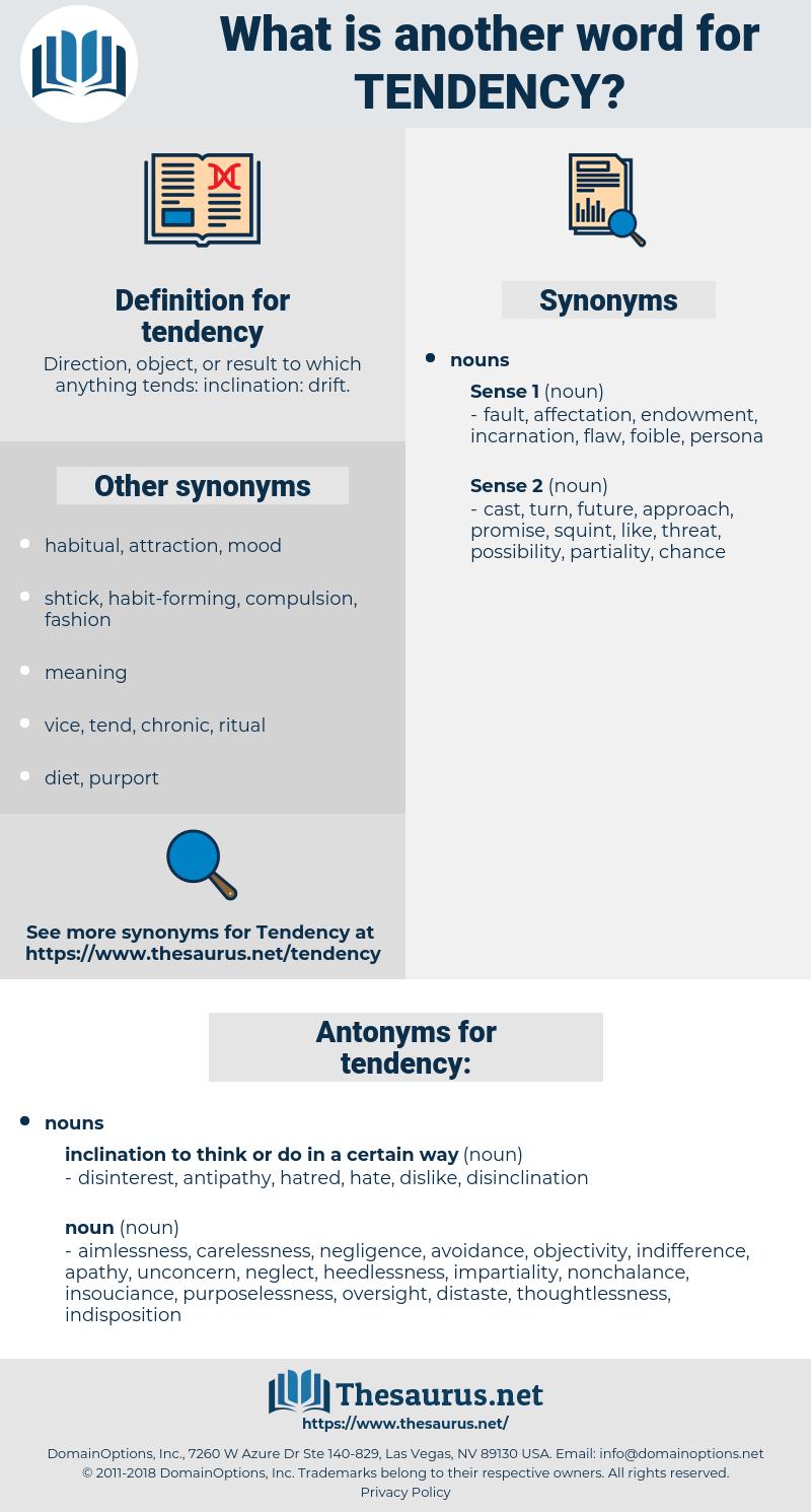 tendency, synonym tendency, another word for tendency, words like tendency, thesaurus tendency