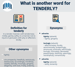 tenderly, synonym tenderly, another word for tenderly, words like tenderly, thesaurus tenderly