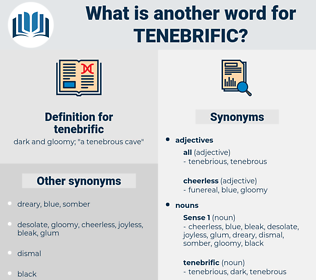 tenebrific, synonym tenebrific, another word for tenebrific, words like tenebrific, thesaurus tenebrific