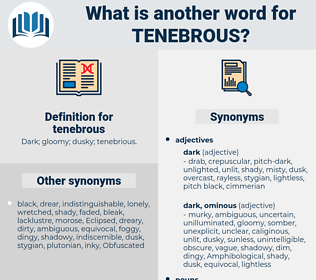 tenebrous, synonym tenebrous, another word for tenebrous, words like tenebrous, thesaurus tenebrous