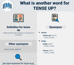 tense up, synonym tense up, another word for tense up, words like tense up, thesaurus tense up