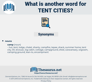 tent cities, synonym tent cities, another word for tent cities, words like tent cities, thesaurus tent cities