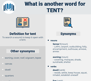 tent, synonym tent, another word for tent, words like tent, thesaurus tent