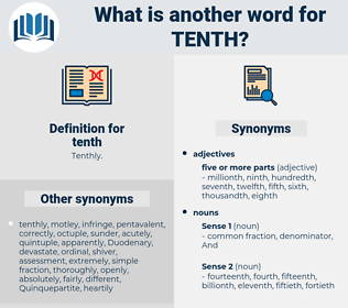 tenth, synonym tenth, another word for tenth, words like tenth, thesaurus tenth