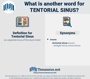 Tentorial Sinus, synonym Tentorial Sinus, another word for Tentorial Sinus, words like Tentorial Sinus, thesaurus Tentorial Sinus