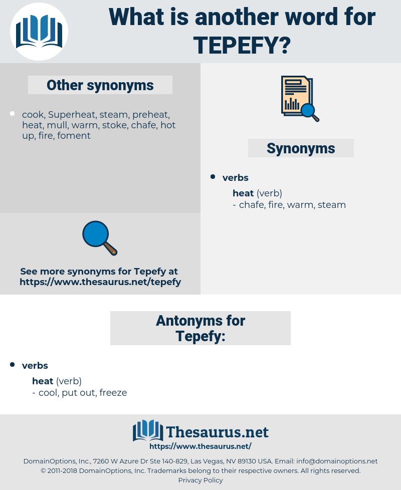 Tepefy, synonym Tepefy, another word for Tepefy, words like Tepefy, thesaurus Tepefy