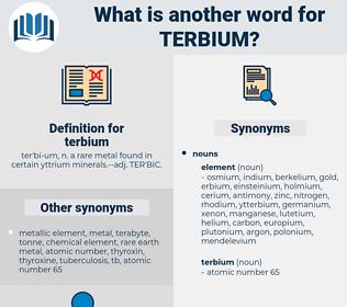 terbium, synonym terbium, another word for terbium, words like terbium, thesaurus terbium