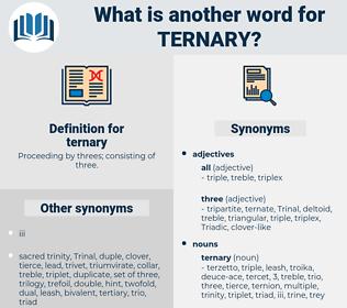 ternary, synonym ternary, another word for ternary, words like ternary, thesaurus ternary