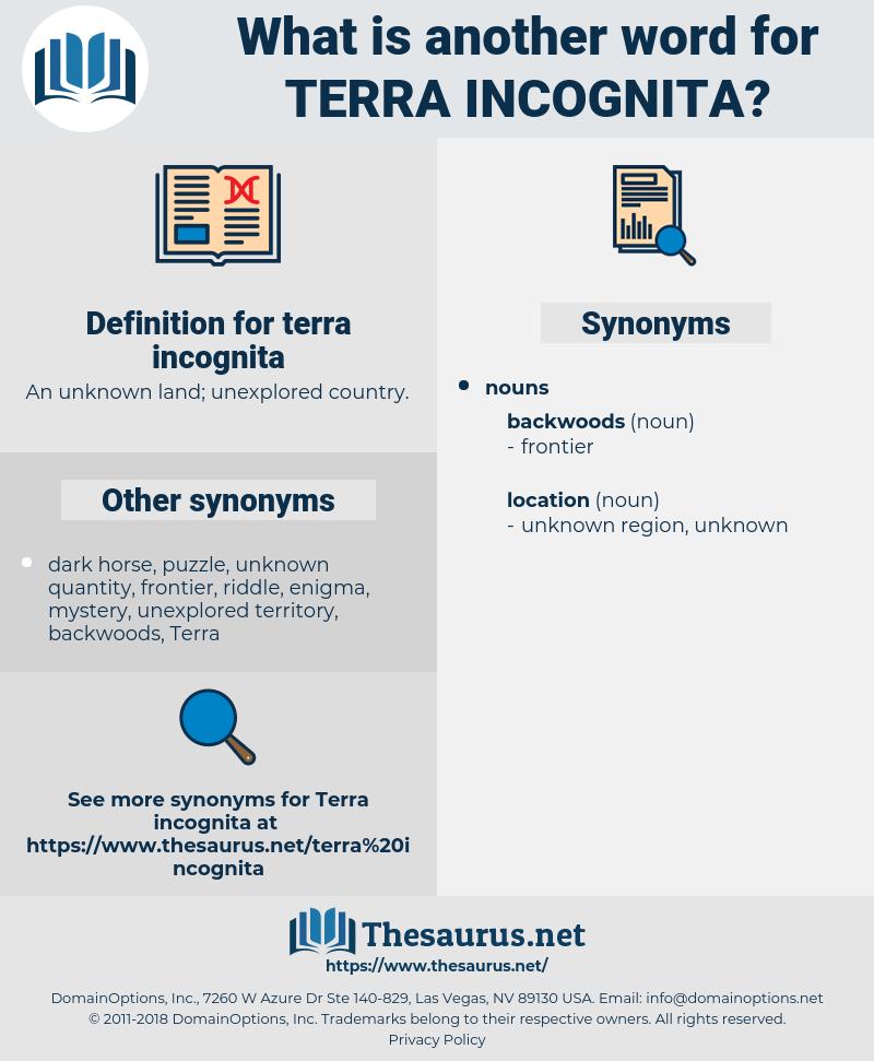 terra incognita, synonym terra incognita, another word for terra incognita, words like terra incognita, thesaurus terra incognita
