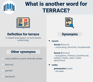 terrace, synonym terrace, another word for terrace, words like terrace, thesaurus terrace